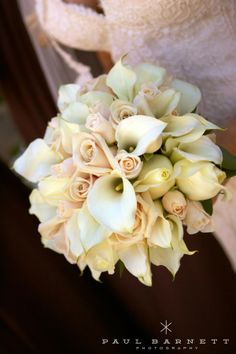 blush pink roses and calla lilies