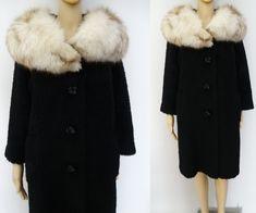 Items similar to Vintage Coat 1950s Fashion, Vintage Fashion, 1950s Hats, 1950s Skirt, Rose Print Dress, Vintage Clothing Stores, Vintage Wardrobe, 50s Dresses, Fur Collars