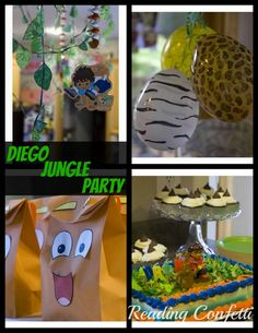 -scope craft from paper towel tubes -animal rescue scavenger hunt -jungle animal print balloons -vine tutorial Safari Birthday Party, Jungle Party, Boy Birthday Parties, 3rd Birthday, Birthday Ideas, Diego Go, Jungle Balloons, Printed Balloons, Dora The Explorer