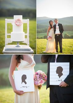 --- i love the picture at the bottom of the bride and groom with the art picture of the as well to cute !!! <3 -my furture wedding