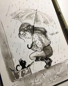 8,600 vind-ik-leuks, 41 reacties - Judit Mallol (@juditmallolart) op Instagram: '#inktober day 16! Somehow witches know when they meet their animal partner *thank you for all…'