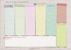 Planifica tu semana: 41 (ahora 45) organizadores semanales para imprimir gratis - Emma Fernández