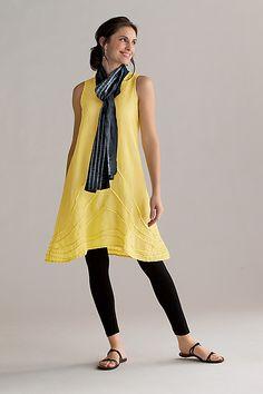 """""""Pintuck Linen Dress""""        Linen Dress                                                                      Created by                          Cynthia Ashby"""
