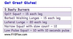 Get Great Glutes, booty blasting exercises @CarissaAnneB #fitfluential