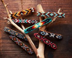 BB-01, Free U.S shipping,Native american inspired handmade beaded suede barrette,geometry,tribal,colorful,southwest,western