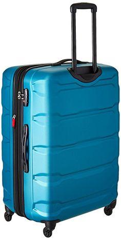 Samsonite Omni PC Hardside Expandable Luggage with Spinner Wheels, Caribbean Blue, Set Luggage Brands, Luggage Sets, Best Luggage, Travel Luggage, Womens Luggage, Samsonite Luggage, Major Airlines, Skate Wheels, Business Travel
