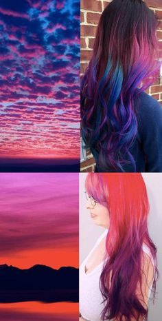 Sunset hair.