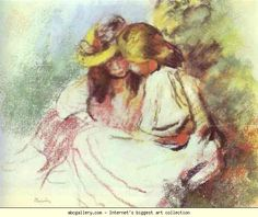 Pierre-Auguste Renoir. Reading Children.1883. Pastel on paper. Private collection, Germany