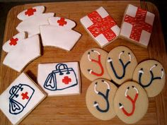 Cookie Vignettes: nurse cookies