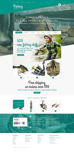 Fishing Equipment Online Store #PrestaShop #template. #themes #business #responsive #webshop
