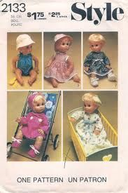 Dolls Clothes pattern in 3 sizes downloadable free from http://printsew.com/