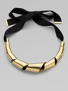 Marc by Marc Jacobs Twisted Metal Ribbon Necklace