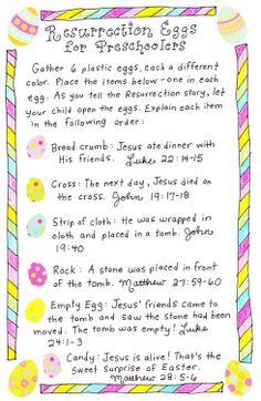 Resurrection Eggs for Preschoolers