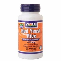 NOW Foods Red Yeast Rice 600mg, Veggie Caps 60 ea by AB. $21.98. NOW Foods Red Yeast Rice 600mg, Veggie Caps 60 ea. Dietary Supplement  Nutritional Support Made with Certified Organic Read Yeast Rice Vegetarian Formula Quality GMP Assured  NOW® Red Yeast Rice delivers the natural nutrient profile found in Genuine Whole Foods.  Red Yeast Rice is a unique natural product that's been used in Asian traditional medical systems since approximately 800 A.D.  Produced by fermen...