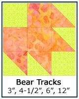 Bear Tracks quilt block tutorial