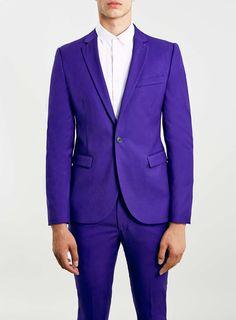 Purple Skinny Fit Suit