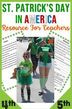 Patrick's Day Resource Social Studies Activities, Literacy Activities, Reading Activities, Elementary Teacher, Elementary Education, Math Education, Teacher Blogs, Teacher Resources, Teaching Ideas