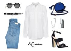 Miercoles Witch Jeans by erick-cortgar on Polyvore featuring moda, Equipment, AG Adriano Goldschmied, Carvela, Lacoste L!VE, French Connection, Acne Studios and Clinique