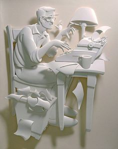Jeff Nishinaka's 3D paper sculpture  Los Angeles-based artist Jeff Nishinaka is a sculptor of paper. He creates amazingly detailed 3D renderings for both the fine and commercial arts