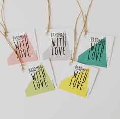 Labels Handmade with love 1