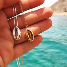 BOHO Conch Seashell Plage Collier Or Chaîne De Ras Du Cou Pendentif Bijoux-WI
