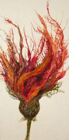 Encaustic art portfolio of Alicia Tormey. Landscapes, Botanicals, Specimen Sculptures, Installations