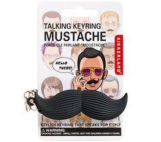 got it. Talking Mustache Keychain $5