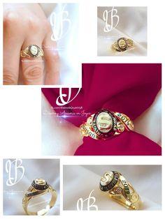 Classring Anillo De Grado Oro 18k Vbjoyas Ecuador Class Ring Jewelry Rings