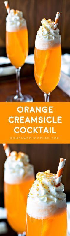 Orange Creamsicle Cocktail part vanilla vodka cold 6 part orange soda). Nothing says summer like a creamy, beachy cocktail. Orange Creamsicle, Creamsicle Drink, Fancy Drinks, Cocktail Drinks, Non Alcoholic Drinks, Drinks Alcohol, Alcohol Shots, Cocktail Mix, Liquor Drinks