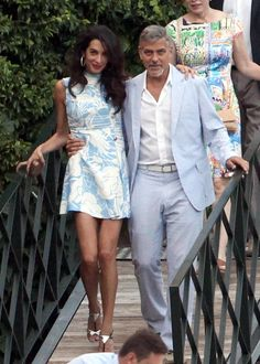Amal and George Clooney Make Matchy-Matchy Look Elegant