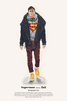 Fashion hero and villain illustration series by John Woo.