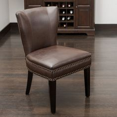 Christopher Knight Home Jackie Brown Leather Accent Dining Chair - Overstock™ Shopping - Great Deals on Christopher Knight Home Dining Chairs - Love this chair.  Only $127