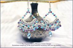 DIY Photo Tutorial Eng-ITA *Kichi* Earrings ,PDF Pattern 84 with Tila,Miniduo,swarovski&seed beads,instructions,bead weaving