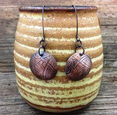 Etched Earrings *This is a one-of-a-kind show piece. Come check us out at Westfest!*