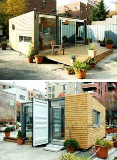 A small container home in - you'll never believe it - the middle of Manhattan, New York !: