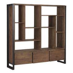 d-Bodhi boekenkast Fendy laag d-Bodhi Fendy Collection Kasten Home Office Decor, Home Decor, Urban Furniture, Teak Wood, Modern, Drawers, Bookcase, Inspiration, Shelving Ideas