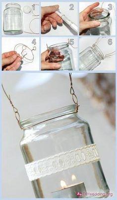 Как делать гирлянду из баночек со свечками. Фото окончательного варианта в этой папке