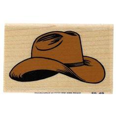 Cowboy Hat Rubber Stamp
