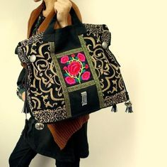 Miya's embroidery bags.