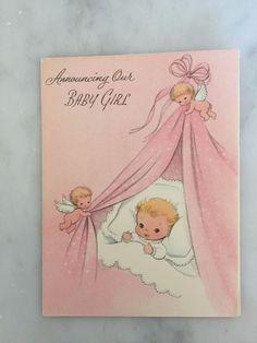 Unused vintage 1960s hallmark hall gem february birthday card unused vintage 50s birth announcement card envelope baby girl amer greetings m4hsunfo