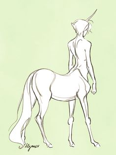 quillery:  Unicorn boy for today's centaur theme for...