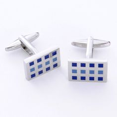 Dashing Cuff Links – 12 Squares – Personalized Gifts