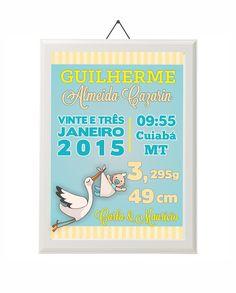 Pôster de Nascimento Cegonha - Newborn Poster - Loja Caderninho