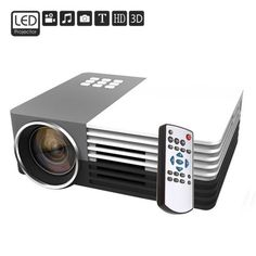 Though in a compact, portable design, the GM50 Home Theater Mini LCD Projector 80lm 480 x 320 with Keystone Correction for PC Laptop gives you the freedom to create a large screen display from 30 to 200 inches. With ultra bright LED lights, it delivers clear, bright pictures in any environment. And it supports manual focus adjustment and two display ratios, 16:9 and 4:3. Multiple interfaces including HDMI, USB, AV, VGA inputs and SD card slot allow you to play files directly from your source