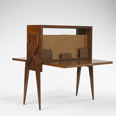 Gio Ponti, Double Drop-Front Secretary, 1942. (This would make a good homework spot and I love that it folds up when not in use)