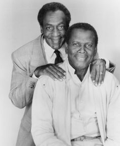 Bill Cosby  Sidney Poitier.  I loved watching the tv show w/Bill Cosby!  Sidney Poitier's movie, To Sir with Love is a classic--love the song too!!
