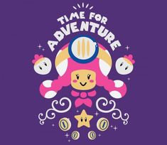 Time for Adventure, Toadette TEE BY AFLAGG