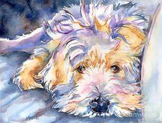 Wheaten Terrier Painting Painting  - Wheaten Terrier Painting Fine Art Print