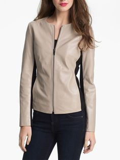 Dual Tone Mothers Day Special Women Leather Jacket