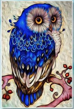 This beautiful fancy owl in a top hat makes an absolutely gorgeous diamond painting. If you're new to the craft, or want to learn more, check out our page on diamond painting here. Owl Pictures, Diamond Painting, Art Painting, Owl Artwork, Drawings, Painting, Owl Wallpaper, Bird Art, Owl Painting